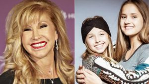 Carmen Geiss mit ihren Töchtern Shania Tyra und Davina Shakira Geiss