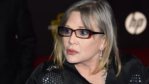 "Carrie Fisher bei der Premiere von ""The Force Awakens"" 2015"