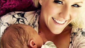 Im Baby-Glück: Natalie Horler zeigt ihre Tochter Jamie