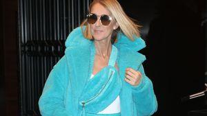 Verrückter Schlumpf-Look: Celine Dion im Plüsch-Outfit!