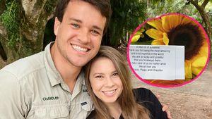 Blumen mit Brief: So romantisch ist Bindis Mann Chandler!