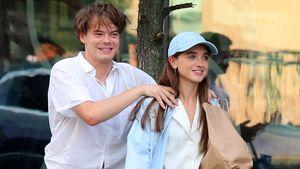 """Hier albert """"Stranger Things""""-Paar Charlie & Natalia herum!"""
