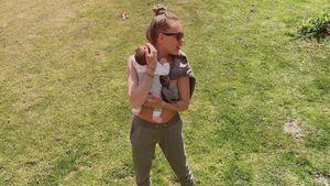 Bauchfrei: Cheyenne Ochsenknecht teilt neues Mama-Baby-Bild