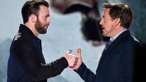 Robert Downey Junior und Chris Evans