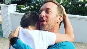 Chris Martin mit seinem Sohn Moses