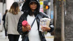 Im Foodtruck: Christina Milian packt schwanger noch mit an