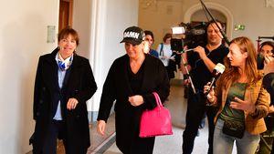 Claudia Effenberg nach dem Prozess gegen Cryosizer
