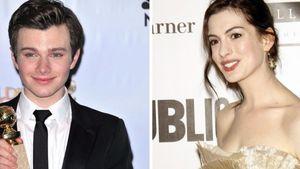 Anne Hathaway und Chris Colfer