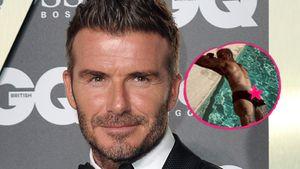 Ungeniert: Hier sonnt sich David Beckham mit nacktem Po!