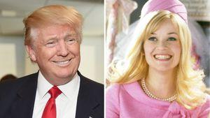 """Donald Trump und Reese Witherspoon in ihrer """"Natürlich blond""""-Rolle"""