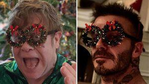 Wer trägt's besser? Elton John & David Beckham im Xmas-Duell