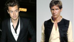 Harry Styles und Han Solo (Harrison Ford)