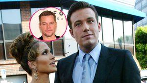 Mit Kumpel Matt Damon: Ben Affleck und J.Lo beim Spazieren