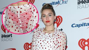 Outfit-Fail auf Red Carpet? Miley Cyrus zeigt roten Slip!