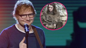 Collage von Ed Sheeran und Maisie Williams