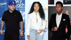 Collage von Rob Kardashian, Blac Chyna und Tyga