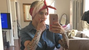 Courtney Stodden als Justin Bieber verkleidet
