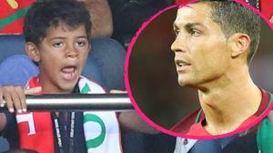 EM-Pleite: Cristiano Ronaldo Jr. sah seinem Papi dabei zu!