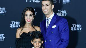 Cristiano Ronaldo (rechts) mit Freundin Georgina & seinem Sohn bei den The Best FIFA Football Awards