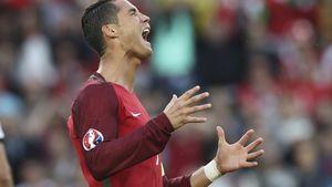 Cristiano Ronaldo bei dem EM-Spiel 2016 Portugal vs. Österreich