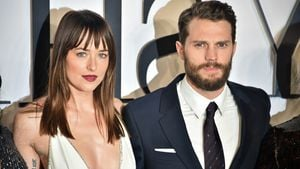 "Dakota Johnson und Jamie Dornan auf der ""Fifty Shades of Grey""-Premiere in London"