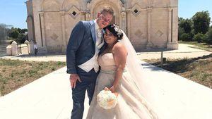 """Dani von """"The Biggest Loser"""" und ihr Mann Fabian bei ihrer Hochzeit in Manfredonia 2017"""