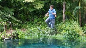 Sprung ins Becken: Daniel Hartwich jetzt in Dschungelprüfung