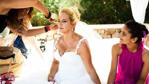 Daniela Büchner bei ihrer Hochzeit