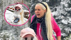Dani als Schneemann: Die Katze baut sich einen Doppelgänger