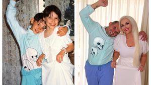Im Pyjama: Daniela Katzenberger stellt Kindheitsfoto nach