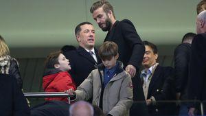 David Beckham, Romeo Beckham und Cruz Beckham