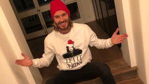 Game of Xmas: David Beckham feiert im Jon-Snow-Pullover!