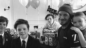 David Beckham und die Kids an seinem Geburtstag