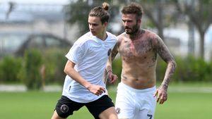 Wie der Vater, so der Sohn: Romeo Beckham trainiert wie Papa