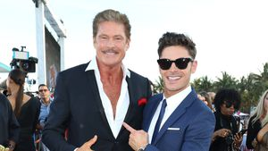 "David Hasselhoff und Zac Efron bei der ""Baywatch""-Weltpremiere in Miami Beach"
