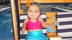 Geburtstagskind Dream Kardashian (1) als kleine Meerjungfrau