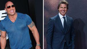Zu schwach? The Rock musste sich Tom Cruise geschlagen geben