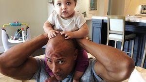 """Dwayne """"The Rock"""" Johnson mit seiner Tochter"""