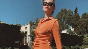 Stylish: Elsa Hosk zeigt ihren Babybauch in knappem Kleid