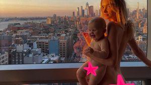 Elsa Hosk verteidigt Nacktfoto mit ihrem Baby nach Shitstorm