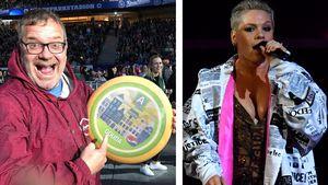 Absurd: Elton überrascht Sängerin Pink bei Konzert mit Käse!