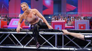 "Nippel-Alarm bei ""Ninja Warrior"": Eva Habermann geht baden!"