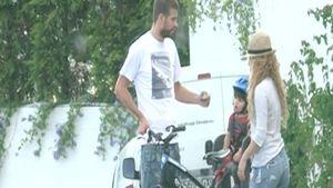 Familienausflug! Shakira & Gerard radeln mit Milan