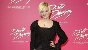 "Model Jennifer Hof bei der ""Dirty Dancing""-Premiere in Berlin"