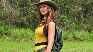 Hanka Rackwitz im Dschungel-Outfit