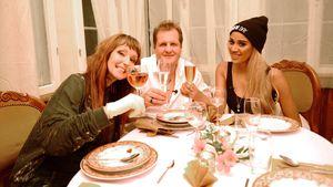 Hanka Rackwitz, Jens Büchner und Sarah Joelle Jahnel beim perfekten Promi-Dinner