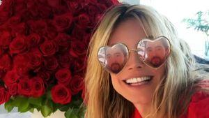 Nur Augen für ihren Tom: Heidi Klum im Valentinstagsrausch