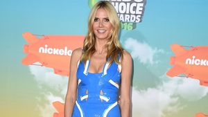 Bei Kids' Choice Awards: Heidi Klum im Reflektoren-Look