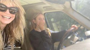 Mit Tochter Leni: Heidi Klum tanzt fröhlich durch ihr Haus