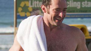 Hugh Jackman am Bondi Strand